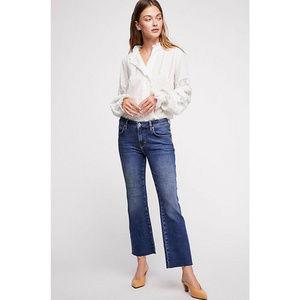 Free People Rita Crop Kick Flare Jeans NWT Size 30